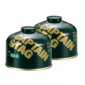 キャプテンスタッグ(CAPTAIN STAG) レギュラーガスカートリッジCS-250【お得な2点セット】 M-8251 キャンプ用ガスカートリッジ