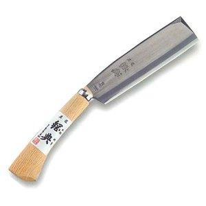 鋼典(Kanenori) 鋼付鞘鉈 180mm コブ柄 C-16 和風刃物