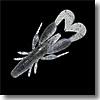 チャンクロー3.5インチSIスモークシュリンプブルーフレーク