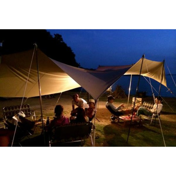 CanvasCamp(キャンバスキャンプ) Classic Shelter Square 5m×5m & Poles set CSS55 レクタ型(ポール:4本以上)