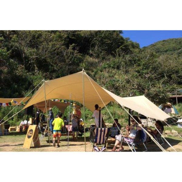 CanvasCamp(キャンバスキャンプ) Classic Shelter Rectangular 4m×6m & Poles set CSR46 レクタ型(ポール:4本以上)