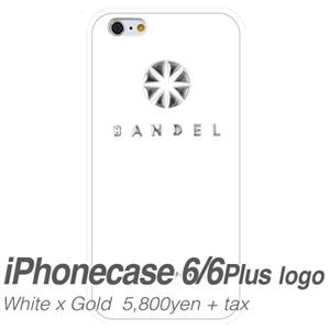 【送料無料】BANDEL(バンデル) iPhone6 plus ロゴ whitexsilver