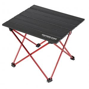 トレッカー ジュラルミンロールテーブル  ブラック