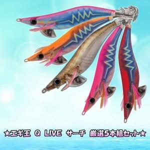 ★エギ王 Q LIVE サーチ 厳選5本組セット★ 2.5号&3号