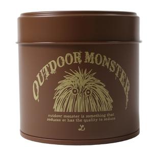 OUTDOOR MONSTER茶缶  ブラウン×ベージュ