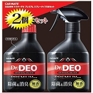 カーメイト(CAR MATE) Dr.DEO ドクターデオ プレミアム スプレータイプ 2本セット D226W D226W 消臭剤