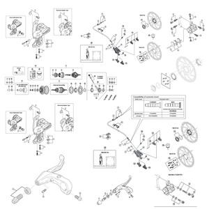 シマノ(SHIMANO/サイクル) AEWNX30L4I エレクトリックワイヤー 1000mm/215mm 4分岐 21921046