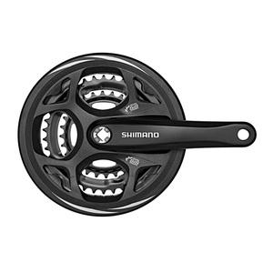シマノ(SHIMANO/サイクル) EFCM311C888CL クランク 48/38/28 170mm ガード付 ブラック 21903114