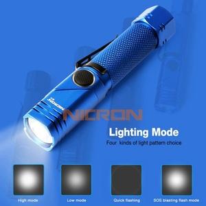 ニクロン(Nicron) Nicron B74 首振り ブルー 600LM 充電式 B74 ハンディライト