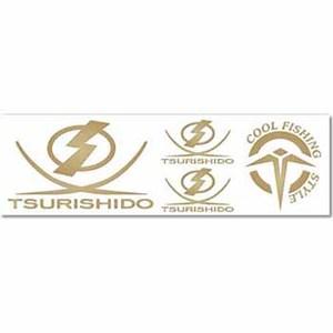 <ナチュラム> 釣士道(TSURISHIDO) オリジナルカッティングステッカー ゴールド TG-8067