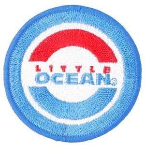 <ナチュラム> リトルオーシャン(LITTLE OCEAN) LO ワッペン 直径6.5cm オーシャンブルー(OB) OA-14