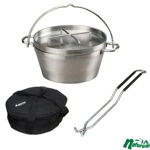 SOTO ステンレスダッチオーブン10インチ+収納ケース+リッドリフター ダッチオーブン