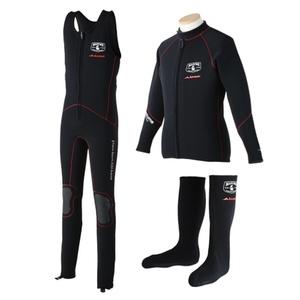 mazume x AIMS ウェットスーツ 3点セット 3L ブラック