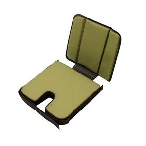 ides(アイデス) チャイルドシートクッション (リア/フロント兼用) ブラウン/カーキ 32516