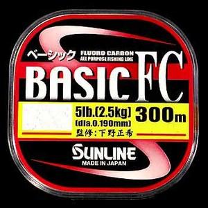 サンライン(SUNLINE) ベーシックFC 300m ブラックバス用フロロライン