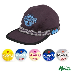 KAVU(カブー) 【25周年缶バッチ付き】エンブロイダリー ストラップキャップ 19810756185007