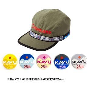 KAVU(カブー) 【25周年缶バッチ付き】エンブロイダリー ストラップキャップ 19810756188007