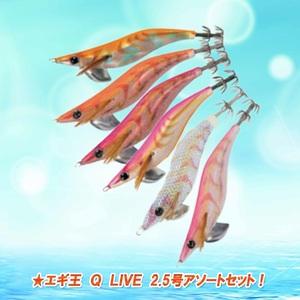 ナチュラム エギ王 Q LIVE 2.5号アソートセット! 9933230 エギセット
