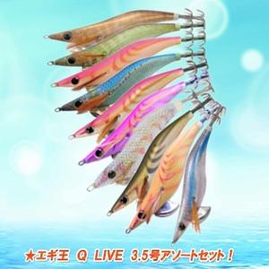 ナチュラム エギ王 Q LIVE 3.5号アソートセット! 9933232 エギセット