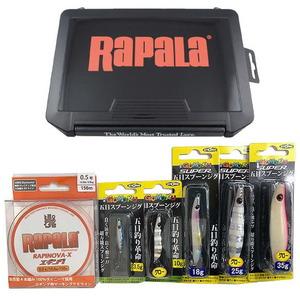 Rapala(ラパラ) スプーンジグボックスセット(スプーンジグ5個+PEライン+ルアーケースセット) GSJBSET-A メタルジグ(10~40g未満)