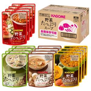 カゴメ 野菜たっぷりスープセット SO-50 4種×4個入り(リニューアル品) 3683 フリーズドライ・レトルト食品