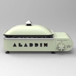 センゴクアラジン(SENGOKU ALADDIN) ポータブルガスホットプレート プチパン SAG-RS21B(G)