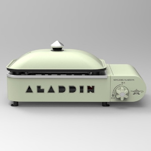 センゴクアラジン(SENGOKU ALADDIN) ポータブルガスホットプレート プチパン SAG-RS21B(G) ガス式