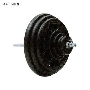 【クリックで詳細表示】EVERNEW(エバニュー)直径28ラバーバーベル 120kgセット