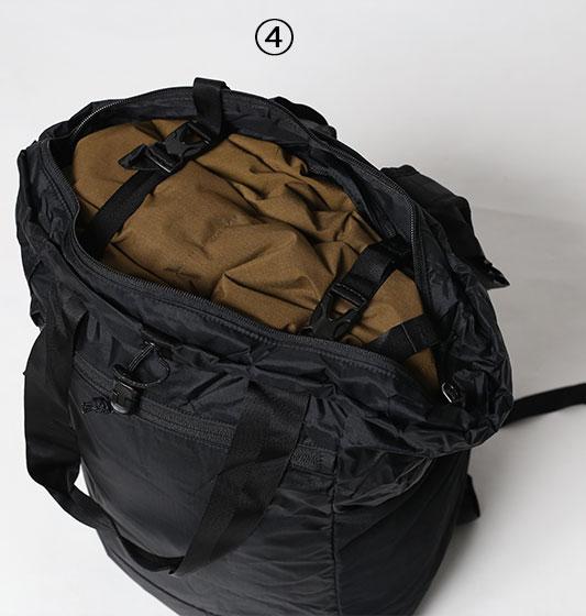パタゴニアウルトラライトブラックホールトートパックのベルト