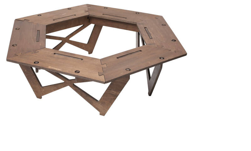 プライウッドヘキサゴンテーブル Plywood Hexagon Table