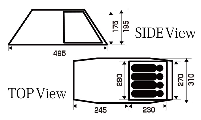 ハイランダー エアートンネル ミーニィは、ルーミィと比べてリビングルームが短いモデル