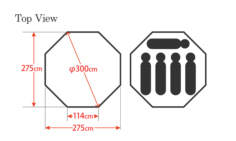ハイランダー TCテント アルネスは、タープとの連結を考えた構造