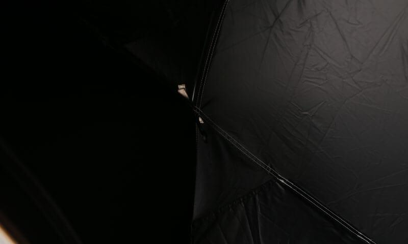 ハイランダー 自立式インナーテントの遮光性