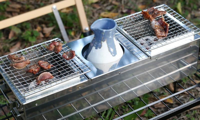 炙り調理と湯煎調理が同時にできる 炙二郎